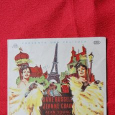 Cine: LOS CABALLEROS SE CASAN CON LAS MORENAS, JANE RUSSELL JEANNE CRAIN, IMPECABLE ORIGINAL, SP. Lote 28409407
