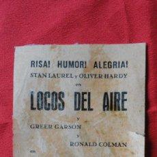 Cine: LOCOS DEL AIRE Y NIEBLA EN EL PASADO, LOCAL ORIGINAL. Lote 28409429