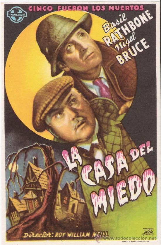 LA CASA DEL MIEDO (Cine - Folletos de Mano - Terror)