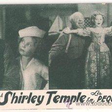 Cine: LA PEQUEÑA VIGIA PROGRAMA TARJETA 20TH CENTURY FOX SHIRLEY TEMPLE E3. Lote 28446807