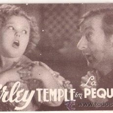 Cine: LA PEQUEÑA VIGIA PROGRAMA TARJETA 20TH CENTURY FOX SHIRLEY TEMPLE G3. Lote 28446851
