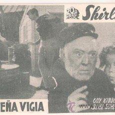Cine: LA PEQUEÑA VIGIA PROGRAMA TARJETA 20TH CENTURY FOX SHIRLEY TEMPLE A3. Lote 28446884