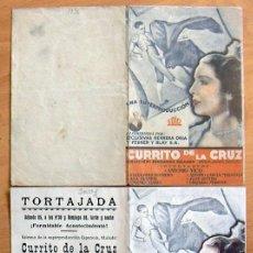 Cine: CURRITO DE LA CRUZ - DOS PROGRAMAS CON DIFERENTE DISTRIBUIDORA - CON PUBLICIDAD. Lote 28457030