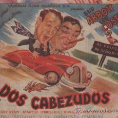 Cine: DOS CABEZUDOS (ABBOT Y COSTELLO). Lote 28563339