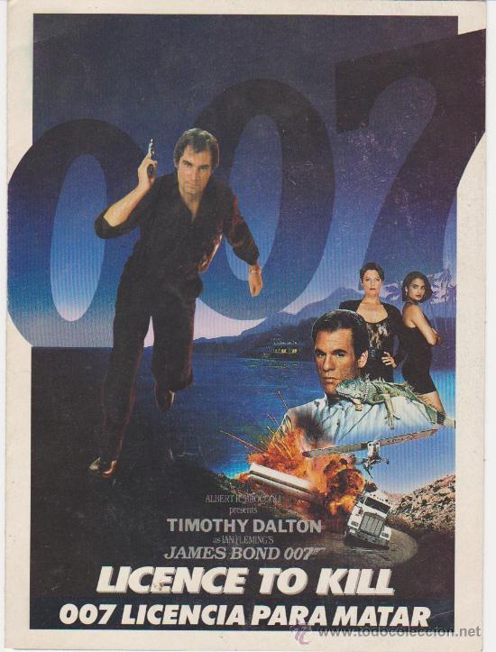 007 LICENCIA PARA MATAR. (Cine - Folletos de Mano - Acción)