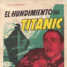 Cine: EL HUNDIMIENTO DEL TITANIC. 1953- CLIFTON WEBB, BARBARA STANWYCK, ROBERT WAGNER. Lote 28582986