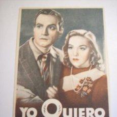 Cine: YO QUIERO MORIR CONTIGO. Lote 28642422