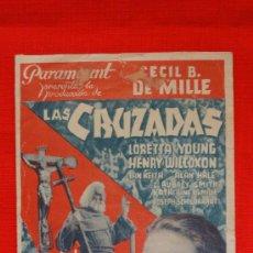 Cine: LAS CRUZADAS, LORETTA YOUNG, CECIL B DE MILLE, DOBLE, 1936, CON PUBLICIDAD SALÓ KURSAAL. Lote 28643780