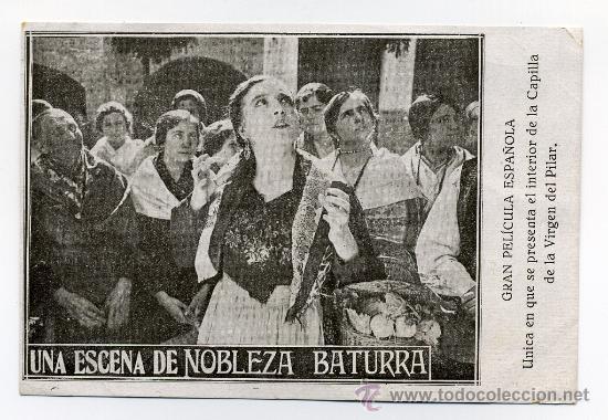 NOBLEZA BATURRA, CON INOCENCIA ALCUBIERRE. 1925. (Cine - Folletos de Mano - Drama)