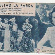 Cine: SU MAJESTAD LA FARSA. TARJETA FICHA DE RKO RADIO.. Lote 28685345