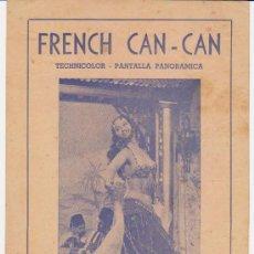 Cine: FRENCH CAN CAN. DOBLE DE MERCURIO (23X30) TEATRO AMÉRICA - LA HABANA.. Lote 28710136