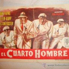 Cine: ANTIGUO FOLLETO DE MANO PELICULA EL CUARTO HOMBRE, AÑOS 40/50 ELCHE. Lote 28695920