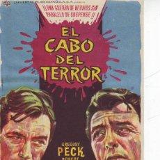 Cine: EL CABO DEL TERROR - GREGORY PECK. Lote 28799430