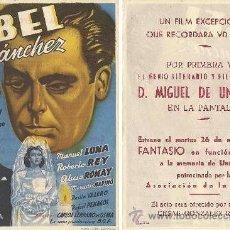 Cine: ABEL SÁNCHEZ (MANUEL LUNA, ROBERTO REY…). Lote 28961496