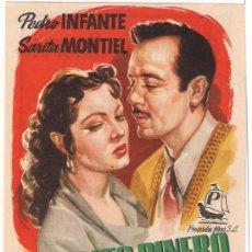 Cine: NECESITO DINERO PROGRAMA SENCILLO PENINSULAR SARA MONTIEL PEDRO INFANTE BOXEO. Lote 28970618