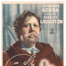 Cine: REMBRANDT PROGRAMA SENCILLO CIRE CHARLES LAUGHTON ALEXANDER KORDA B. Lote 28972294