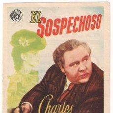 Cine: EL SOSPECHOSO PROGRAMA SENCILLO ASTORIA CHARLES LAUGHTON ELLA RAINES. Lote 28972505