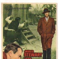 Cine: FBI CONTRA EL IMPERIO DEL CRIMEN PROGRAMA SENCILLO WARNER JAMES STEWART VERA MILES LETRAS AMARILLAS. Lote 28986762