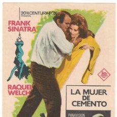 Cine: LA MUJER DE CEMENTO PROGRAMA SENCILLO 20TH FOX FRANK SINATRA RAQUEL WELCH. Lote 28986857