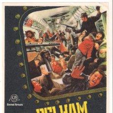 Cine: PELHAM 1-2-3 PROGRAMA SENCILLO CB FILMS WALTER MATTHAU ROBERT SHAW. Lote 38290143