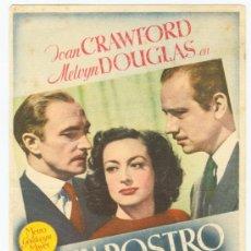 Cine: UN ROSTRO DE MUJER J.CRAWFORD.. Lote 29024074