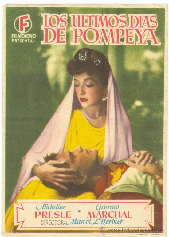 LOS ULTIMOS DIAS DE POMPEYA (Cine - Folletos de Mano - Aventura)