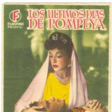Cine: LOS ULTIMOS DIAS DE POMPEYA . Lote 29024261