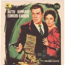 Cine: AVENTURA EN SHANGHAI PROGRAMA SENCILLO CEPICSA RUTH ROMAN EDMOND O'BRIEN. Lote 29024497