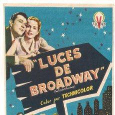 Kino - LUCES DE BROADWAY PROGRAMA SENCILLO VICTORY FILMS TONY MARTIN JANET LEIGH - 29026050