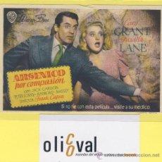 Cine: PROGRAMA DE MANO ARSENICO POR COMPASION CARY GRANT PRISCILLA LANE 135 X 90 MMWARNER BROS . Lote 29039599