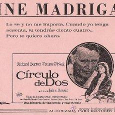 Cine: CIRCULO DE DOS. Lote 29052694