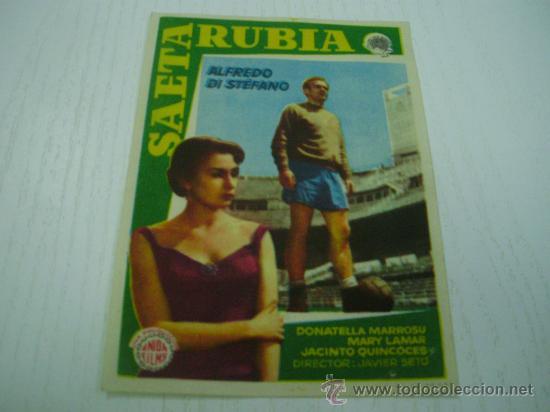 SAETA RUBIA - ALFREDO DI STEFANO (Cine - Folletos de Mano - Deportes)