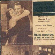 Cine: MLLE. DOCTOR (CON PUBLICIDAD). Lote 29072486