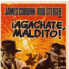 Cine: PROGRAMA CINE - ¡AGACHATE MALDITO! - JAMES COBURN - ROD STEIGER. Lote 29100054