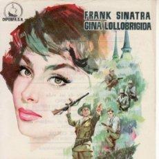 Cine: CUANDO HIERVE LA SANGRE. FRANK SINATRA. GINA LOLLOBRIGIDA. Lote 29110128