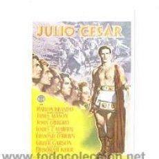 Cine: JULIO CESAR PROGRAMA DE MANO MODERNO, NO ORIGINAL MARLON BRANDO. Lote 112042542