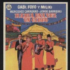 Cine: P-5281- HABIA UNA VEZ UN CIRCO (GABY - FOFO - MILIKI - FOFITO). Lote 18656193