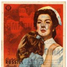 Cine: PROGRAMA CINE - AMOR SUBLIME - ROSALIND RUSSELL - ALEXANDER KNOX - CINE CASABLANCA. Lote 29147771