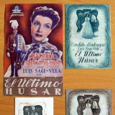 Cine: EL ÚLTIMO HÚSAR - AÑO 1940 - CONCHITA MONTENEGRO Y LUIS SAGI VELA - CON PUBLICIDAD. Lote 29154526