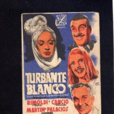 Cine: TURBANTE BLANCO - ADRIANO RIMOLDI - RAUL CANCIO - PROGRAMA DOBLE - CON PUBLICIDAD.. Lote 29185685