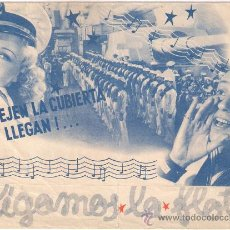 Cine: SIGAMOS LA FLOTA PROGRAMA DOBLE GRANDE RKO FRED ASTAIRE GINGER ROGERS. Lote 29201779