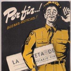 Cine: DE AQUI A LA ETERNIDAD PROGRAMA TROQUELADO COLUMBIA LANCASTER CLIFT SINATRA KERR. Lote 29212182