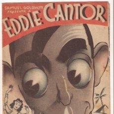 Cine: EL CHICO MILLONARIO PROGRAMA DOBLE ARTISTAS ASOCIADOS EDDIE CANTOR ETHEL MERMAN ANN SOTHERN. Lote 29214026