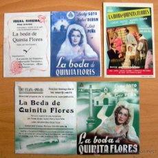 Cine: LA BODA DE QUINITA FLORES - AÑO 1943 - LUCHY SOTO Y RAFAEL DURÁN - CON PUBLICIDAD. Lote 29229294