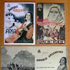 Cine: LA CANCIÓN DE AIXA - CINE 1939 - IMPERIO ARGENTINA Y MANUEL LUNA - CON PUBLICIDAD. Lote 29229366