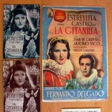 Cine: LA GITANILLA - AÑO 1940 INTERPRETADA POR ESTRELLITA CASTRO Y JUAN DE ORDUÑA - CON PUBLICIDAD. Lote 29231565