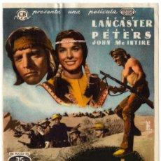 Cine: PROGRAMA CINE - APACHE - BURT LANCASTER - JEAN PETERS - JOHN MC INTIRE. Lote 29248457