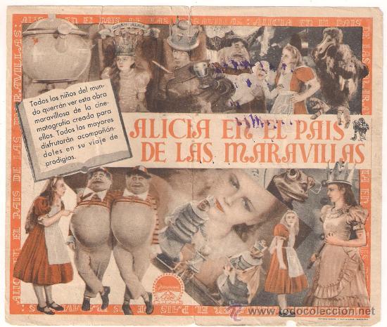 Cine: ALICIA EN EL PAIS DE LAS MARAVILLAS PROGRAMA DOBLE PARAMOUNT GARY COOPER CARY GRANT LEWIS CARROLL - Foto 2 - 29237924