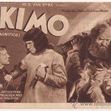 Cine: ESKIMO PROGRAMA TARJETA MGM MALA W. S. VAN DYKE . Lote 29243020