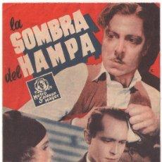 Cine: LA SOMBRA DEL HAMPA PROGRAMA DOBLE MGM FRANCHOT TONE MADGE EVANS. Lote 29251826